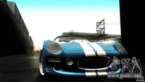 Shelby Series 1 1999 para visión interna GTA San Andreas