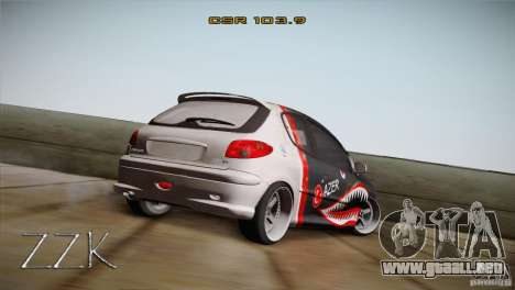 Peugeot 206 Shark Edition para GTA San Andreas left
