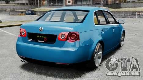 Volkswagen Jetta 2010 para GTA 4 Vista posterior izquierda