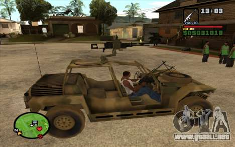 FAV Buggy de Battlefield 2 para GTA San Andreas left