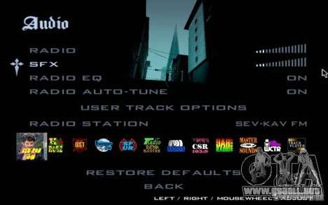 North Cove FM para GTA SA v 1.0 para GTA San Andreas