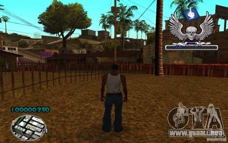 C-HUD awk William para GTA San Andreas tercera pantalla