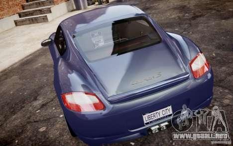 Porsche Cayman S 2006 EPM para GTA 4 visión correcta