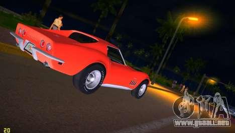 Chevrolet Corvette (C3) Stingray T-Top 1969 para GTA Vice City vista lateral