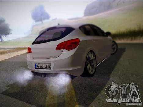 Opel Astra Senner Lower Project para GTA San Andreas vista posterior izquierda