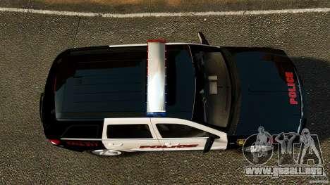 Jeep Grand Cherokee SRT8 2008 Police [ELS] para GTA 4 visión correcta
