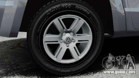 Volkswagen Amarok TDI para GTA 4 vista hacia atrás
