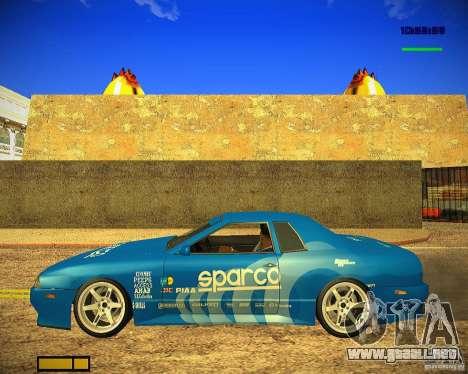 Pak vinilos para Elegy para GTA San Andreas vista hacia atrás