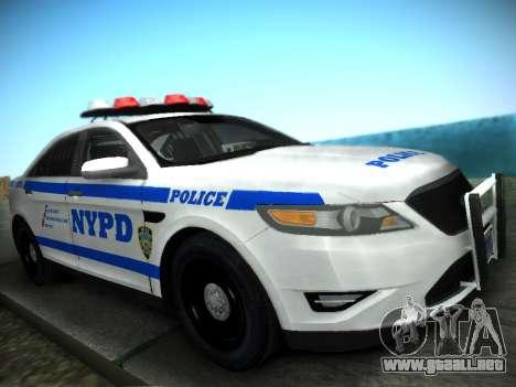Ford Taurus NYPD 2011 para GTA San Andreas vista posterior izquierda