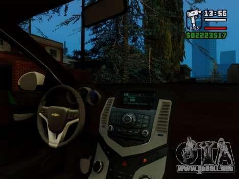 Chevrolet Cruze para la vista superior GTA San Andreas