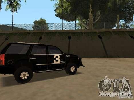 Cadillac Escalade Tallahassee para GTA San Andreas left