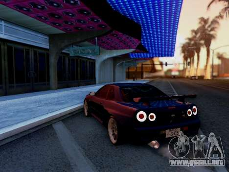 Nissan Skyline BNR34 GT-R para GTA San Andreas left