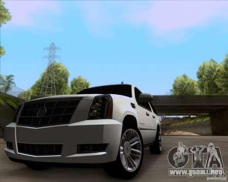 Cadillac Escalade ESV Platinum 2013 para GTA San Andreas left