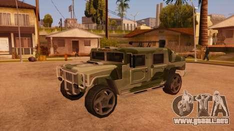 HD Patriot para la vista superior GTA San Andreas