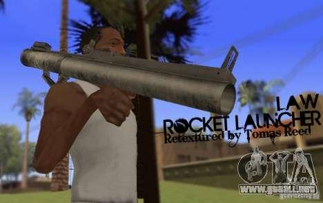 LAW Rocket Launcher Retextured para GTA San Andreas tercera pantalla