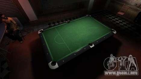 Mesa de billar superior en la barra de 8 bolas para GTA 4 adelante de pantalla