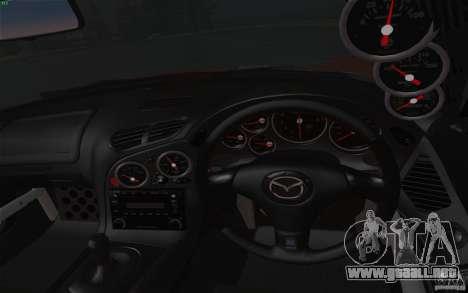 Mazda RX7 Hellalush V.2 para GTA San Andreas vista hacia atrás