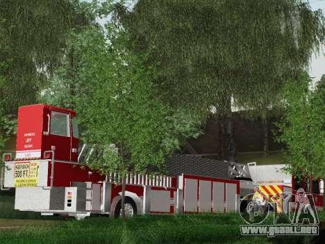 Pierce Arrow XT LAFD Tiller Ladder Truck 10 para visión interna GTA San Andreas