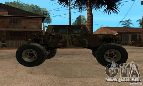 Monster Patriot para GTA San Andreas vista posterior izquierda