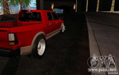 Dodge Ram 3500 Tuning para la visión correcta GTA San Andreas