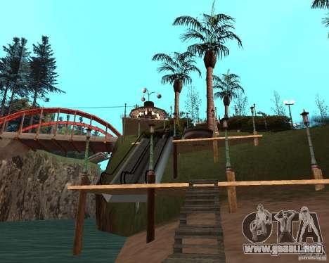 Villa en la Laguna de pesca para GTA San Andreas novena de pantalla