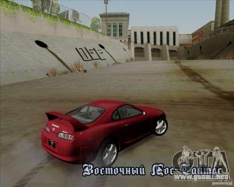 Toyota Supra RZ 98 Twin Turbo para visión interna GTA San Andreas