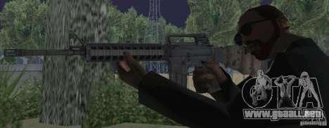 M16A4 from BF3 para GTA San Andreas tercera pantalla