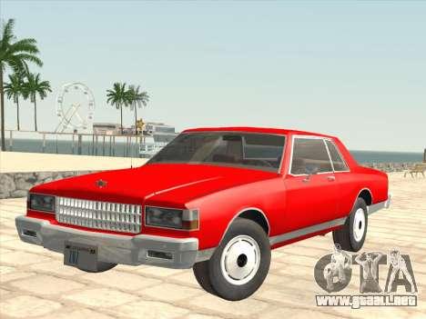 Chevrolet Caprice 1986 para vista lateral GTA San Andreas