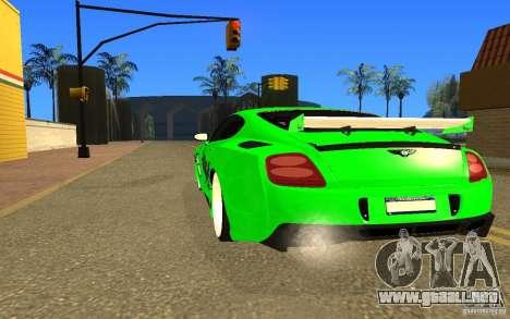 Bentley Continental GT para GTA San Andreas left