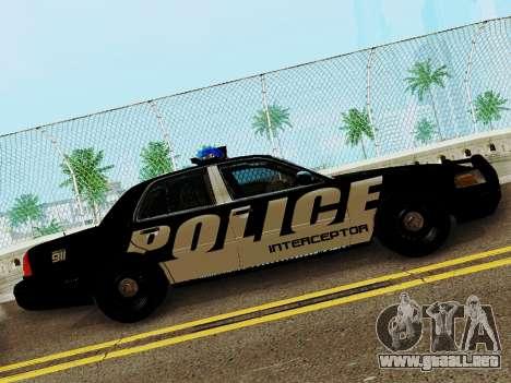 Ford Crown Victoria Police Interceptor 2011 para GTA San Andreas left