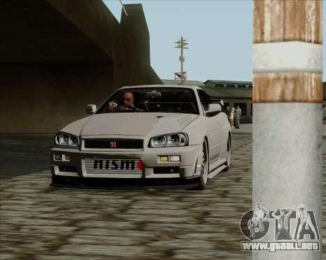 Nissan Skyline GTR R34 para GTA San Andreas left