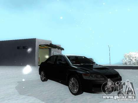 Mitsubishi Lancer Evo IX MR Evolution para la visión correcta GTA San Andreas