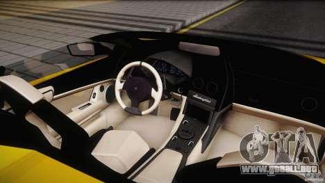 Lamborghini Reventón Roadster 2009 para GTA San Andreas vista hacia atrás