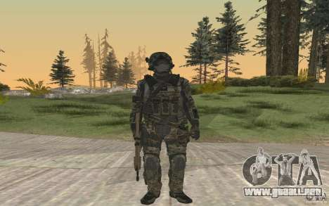 Seals soldier from BO2 para GTA San Andreas segunda pantalla