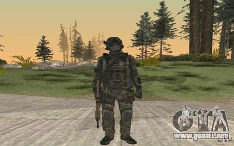 Seals soldier from BO2 para GTA San Andreas segunda pantalla