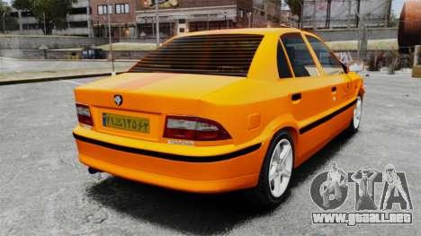 Iran Khodro Samand LX Taxi para GTA 4 Vista posterior izquierda