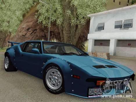 De Tomaso Pantera GT4 para GTA San Andreas vista posterior izquierda