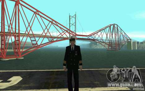 Admiral HD para GTA San Andreas sucesivamente de pantalla