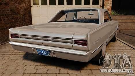 Dodge Coronet 1967 para GTA 4 Vista posterior izquierda