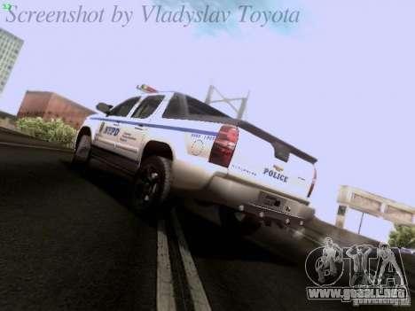 Chevrolet Avalanche 2007 para GTA San Andreas left