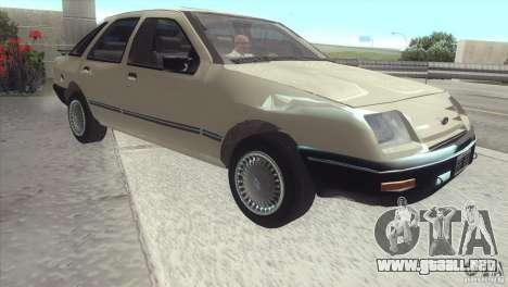 Ford Sierra para GTA San Andreas vista posterior izquierda