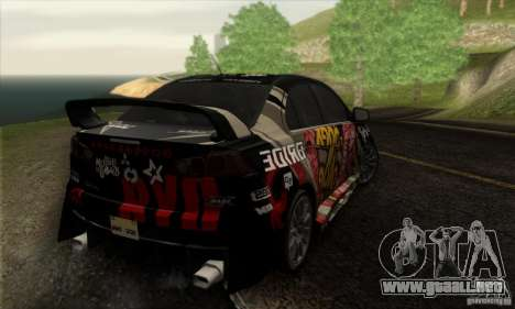 Mitsubishi Lancer Evolution X 2008 para el motor de GTA San Andreas