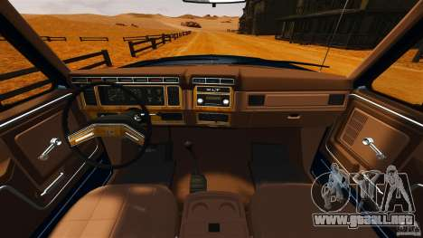 Ford Bronco 1980 para GTA 4 visión correcta