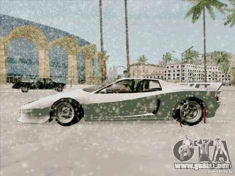 Ferrari Testarossa Custom para GTA San Andreas vista posterior izquierda