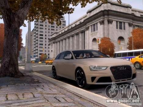 Audi RS4 Avant 2013 para GTA 4 vista lateral