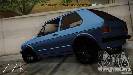 Volkswagen Golf MK1 para GTA San Andreas left