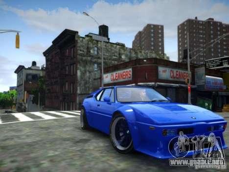BMW M1 Replica para GTA 4 Vista posterior izquierda