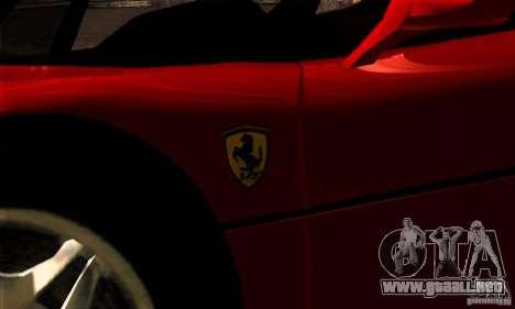 Ferrari F50 Spider para GTA San Andreas vista posterior izquierda