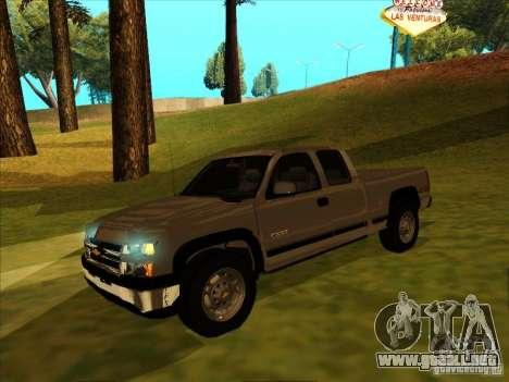 Chevrolet Silverado 2006 4x4 para GTA San Andreas left