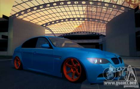 BMW M3 E90 para vista inferior GTA San Andreas